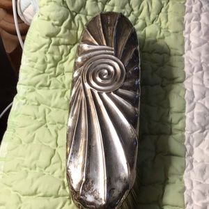 Sterling clothes brush, Antique